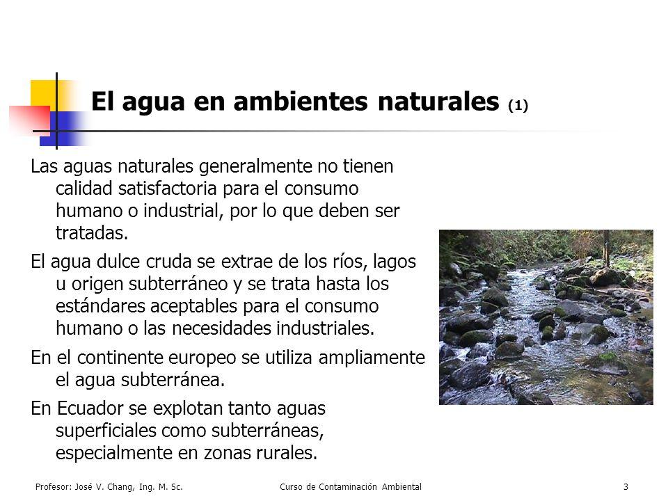 El agua en ambientes naturales (1)