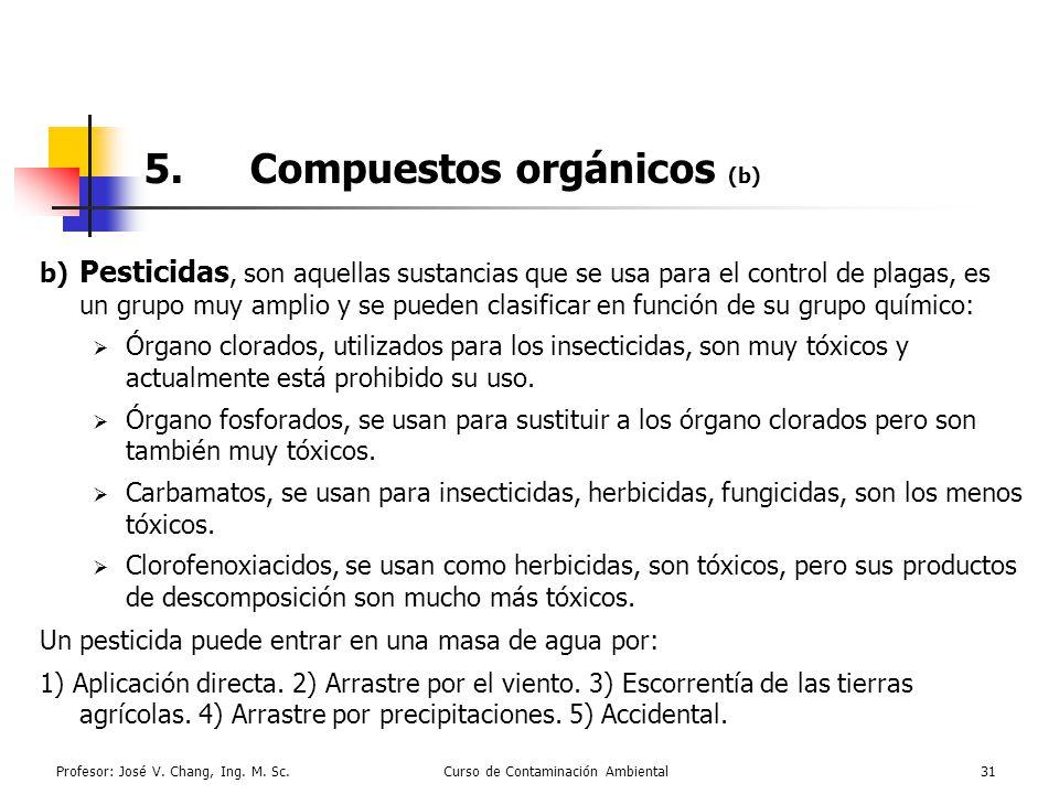 5. Compuestos orgánicos (b)