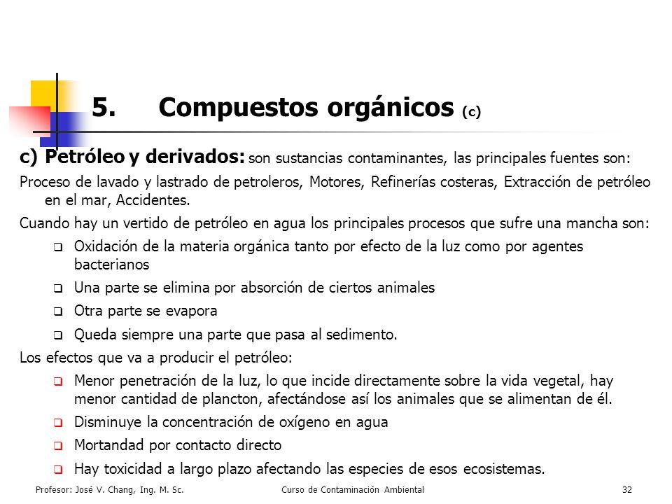 5. Compuestos orgánicos (c)
