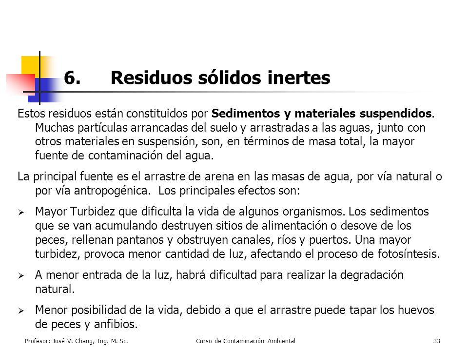 6. Residuos sólidos inertes