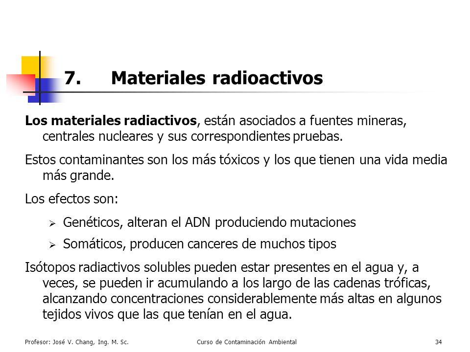 7. Materiales radioactivos
