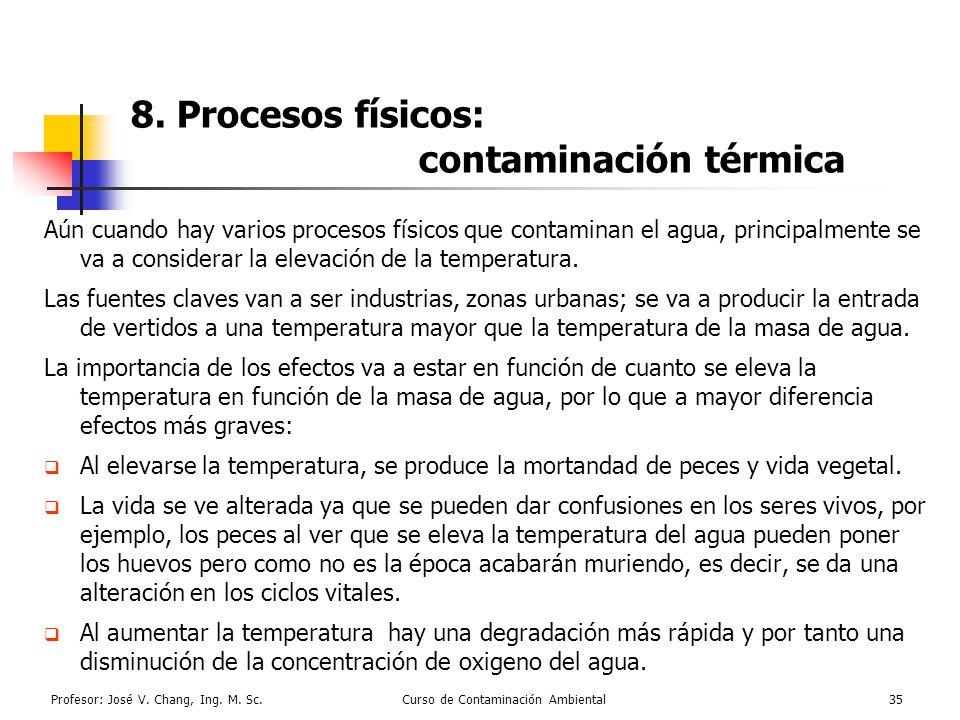8. Procesos físicos: contaminación térmica