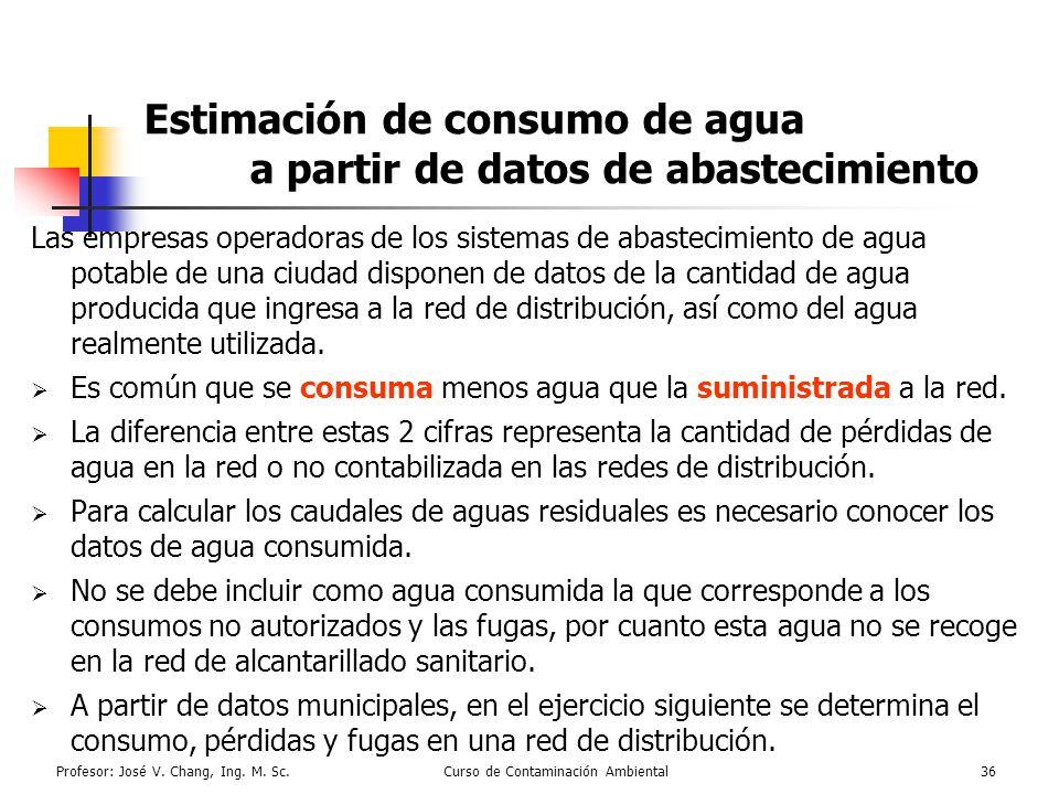 Estimación de consumo de agua a partir de datos de abastecimiento