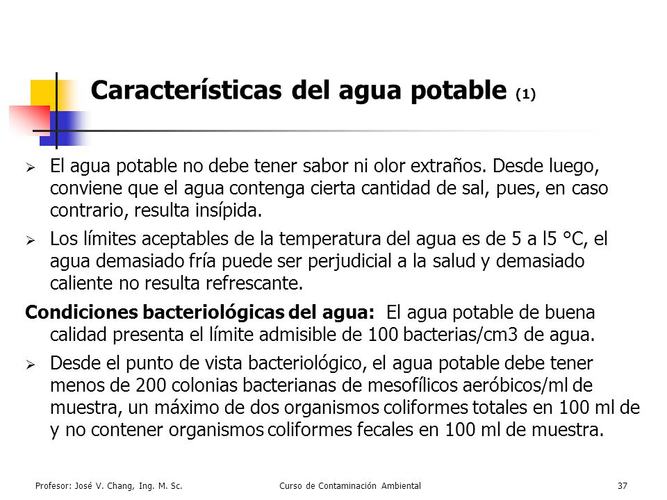 Características del agua potable (1)