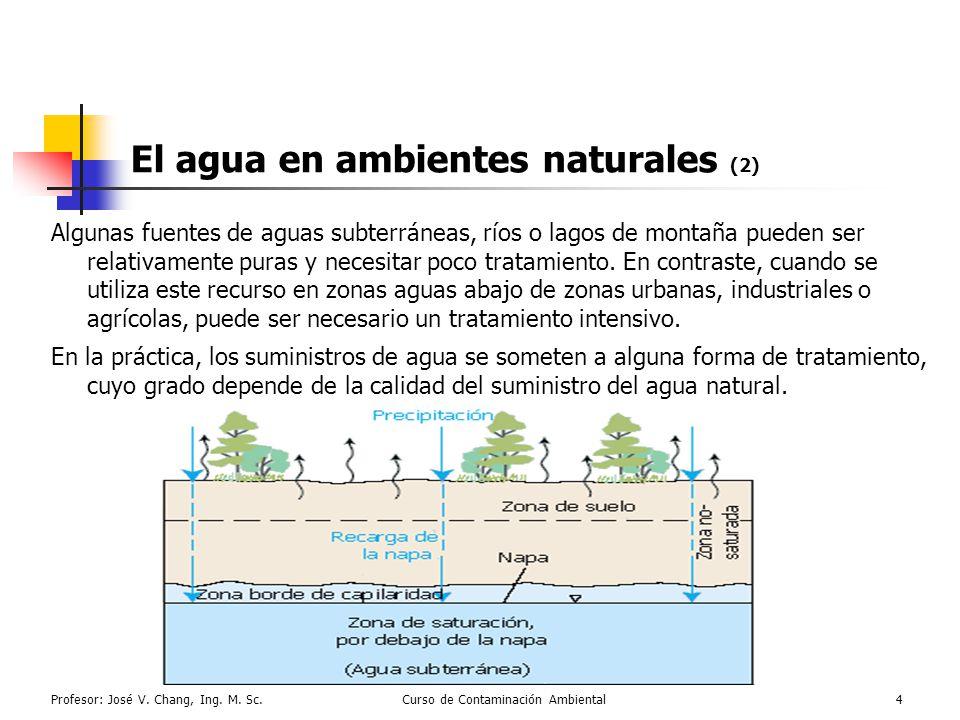 El agua en ambientes naturales (2)