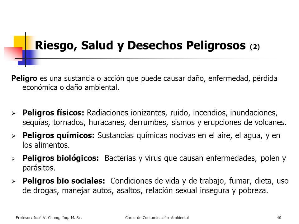 Riesgo, Salud y Desechos Peligrosos (2)
