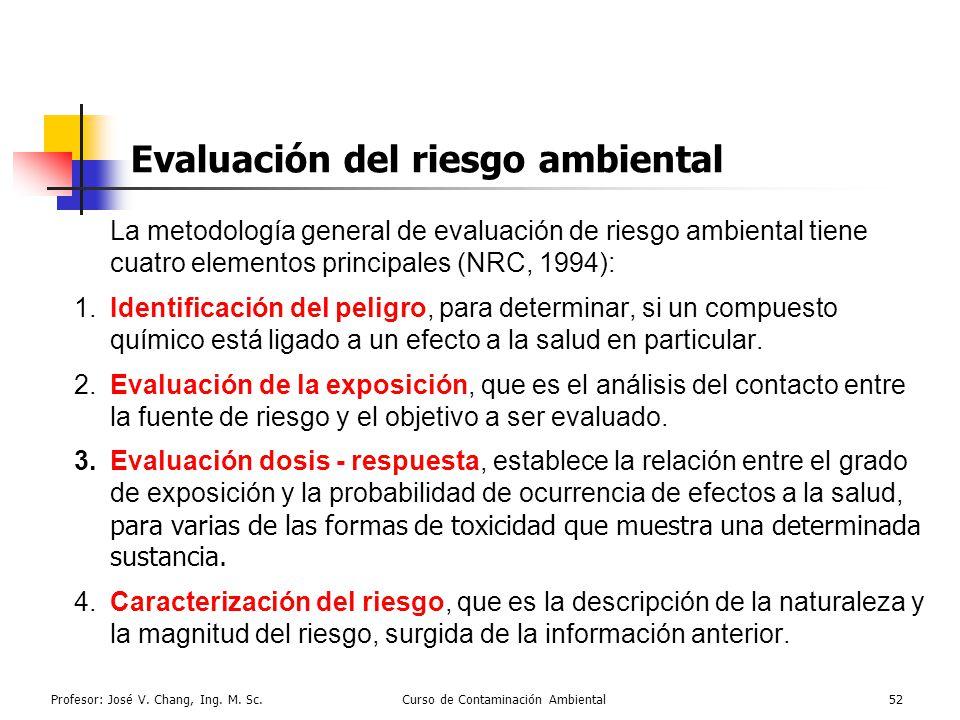 Evaluación del riesgo ambiental