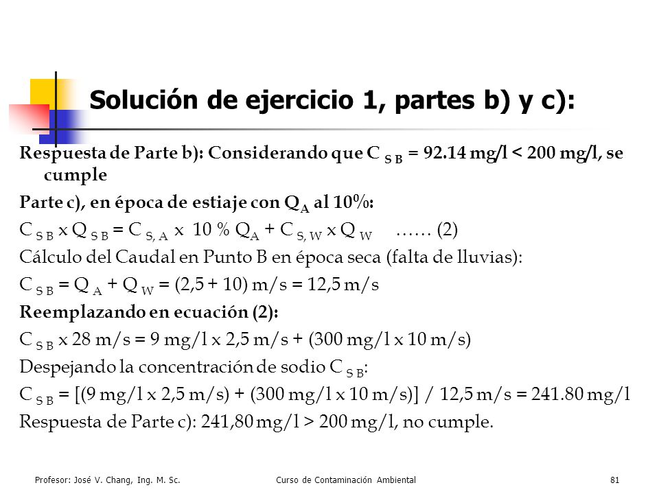 Solución de ejercicio 1, partes b) y c):