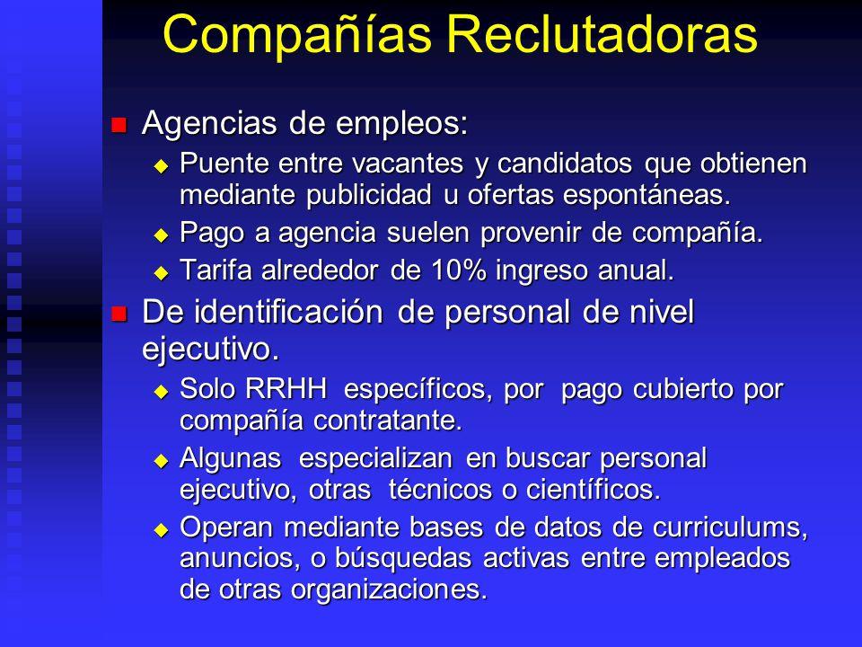 Compañías Reclutadoras