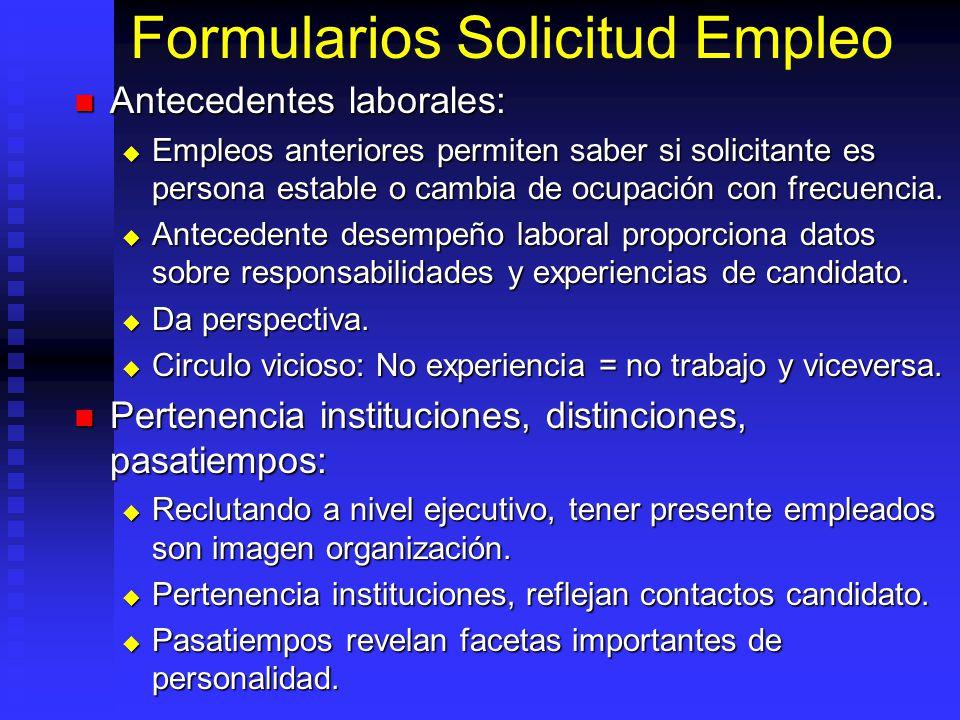 Formularios Solicitud Empleo