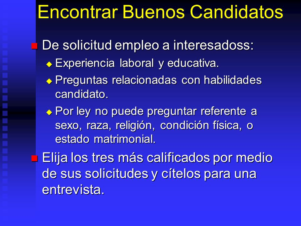 Encontrar Buenos Candidatos