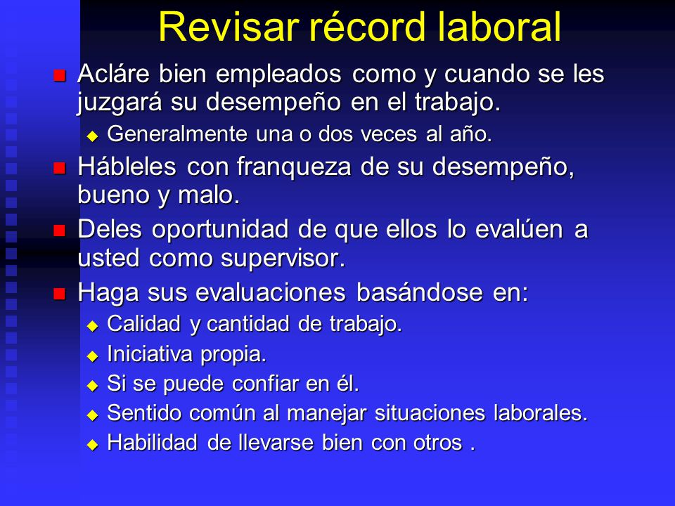 Revisar récord laboral