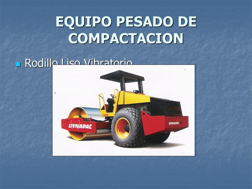 EQUIPO PESADO DE COMPACTACION