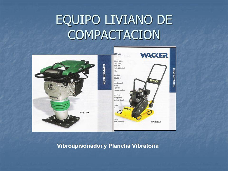 EQUIPO LIVIANO DE COMPACTACION