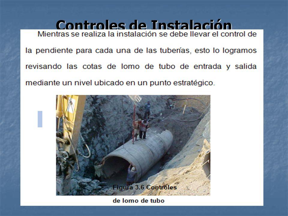 Controles de Instalación
