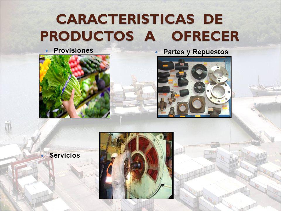 CARACTERISTICAS DE PRODUCTOS A OFRECER