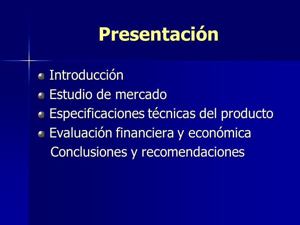 Presentación Introducción Estudio de mercado