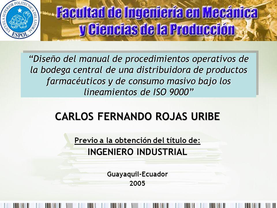 CARLOS FERNANDO ROJAS URIBE Previo a la obtención del título de: