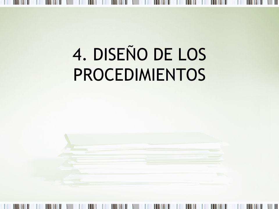 4. DISEÑO DE LOS PROCEDIMIENTOS