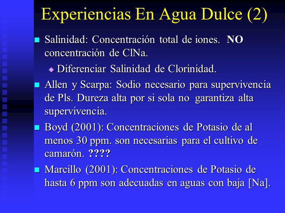 Experiencias En Agua Dulce (2)