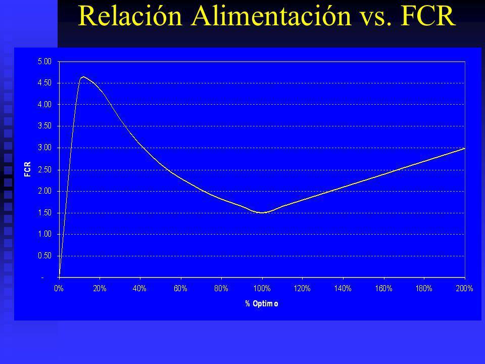 Relación Alimentación vs. FCR