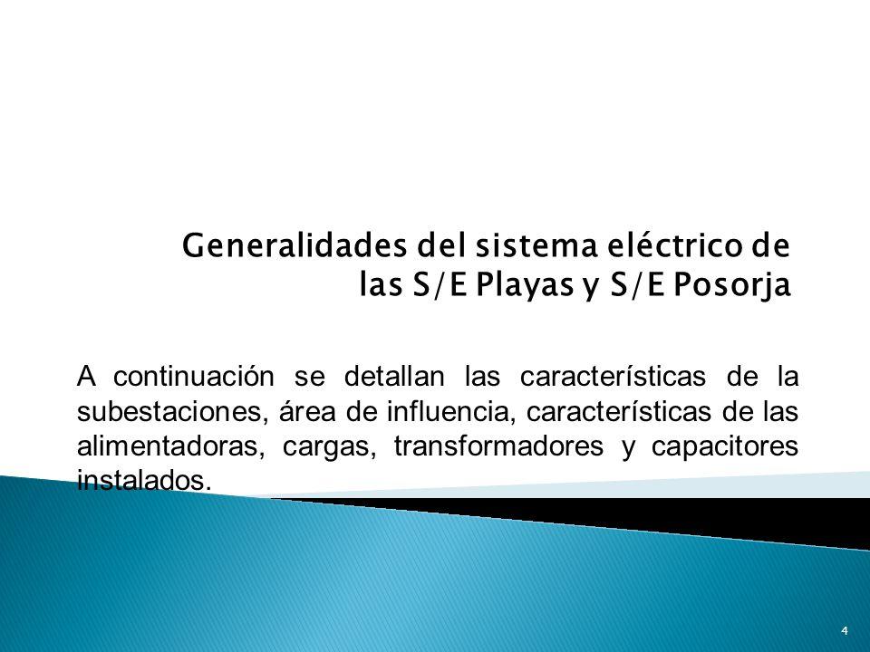Generalidades del sistema eléctrico de las S/E Playas y S/E Posorja