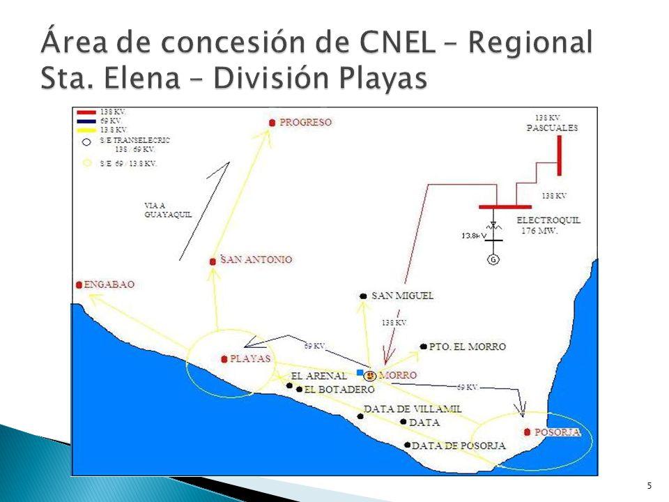 Área de concesión de CNEL – Regional Sta. Elena – División Playas