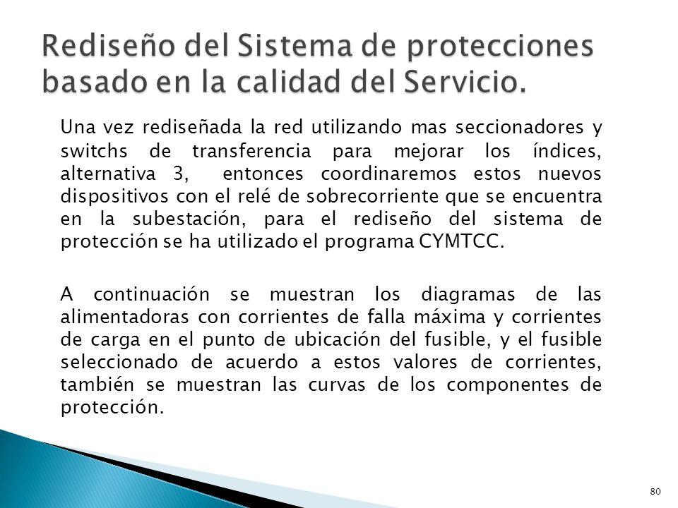 Rediseño del Sistema de protecciones basado en la calidad del Servicio.