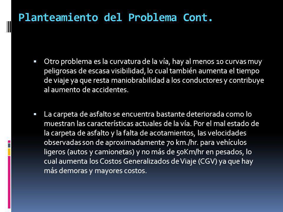 Planteamiento del Problema Cont.