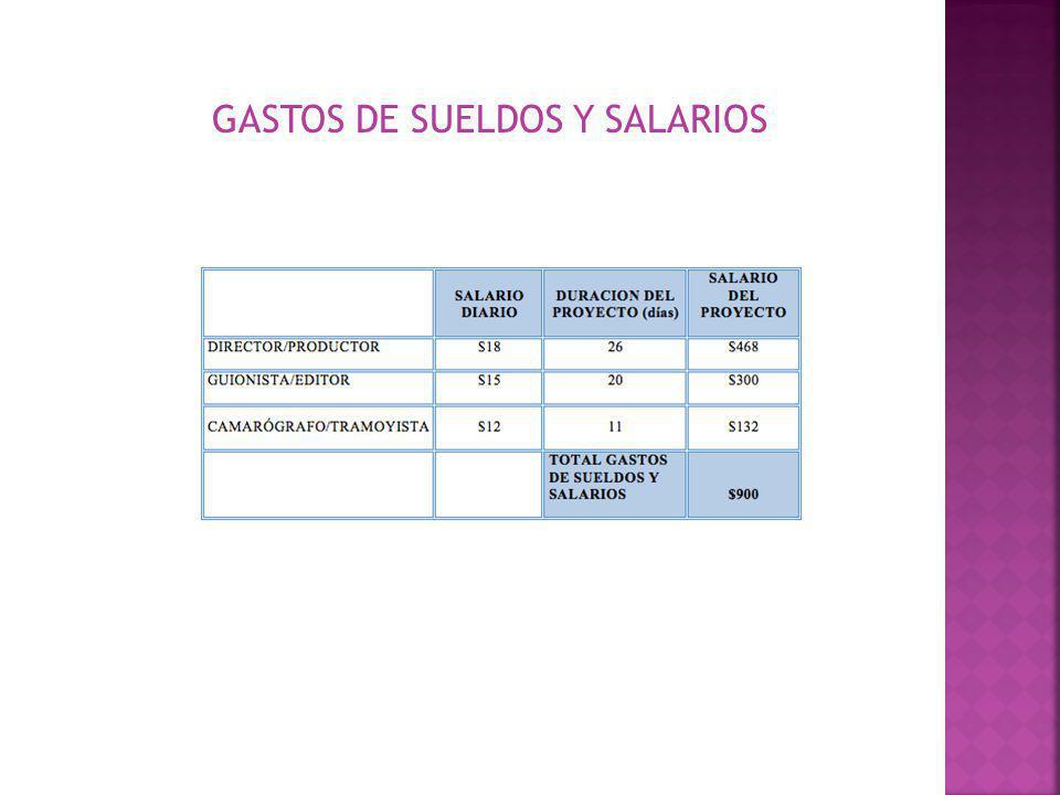 GASTOS DE SUELDOS Y SALARIOS