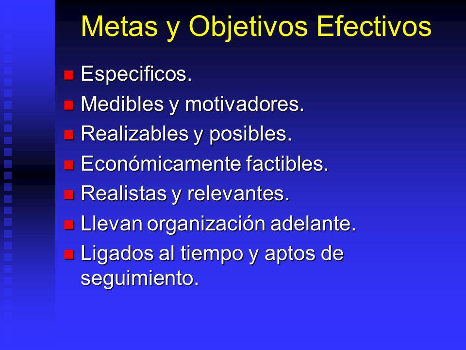 Metas y Objetivos Efectivos