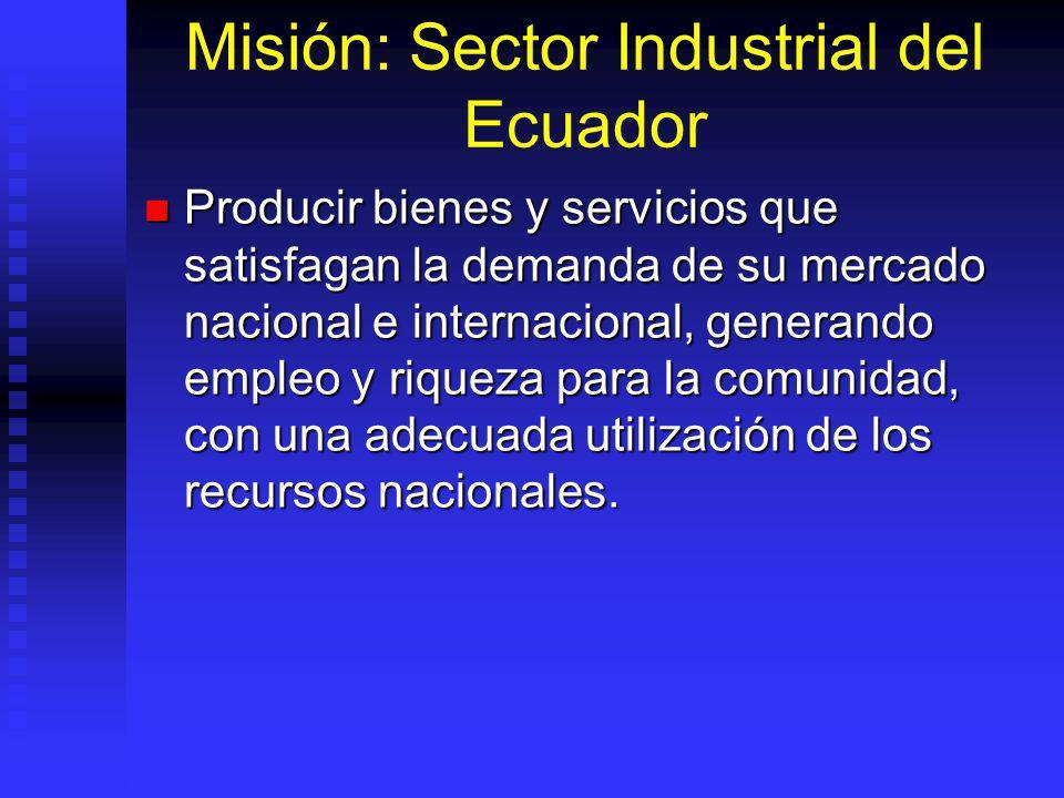 Misión: Sector Industrial del Ecuador