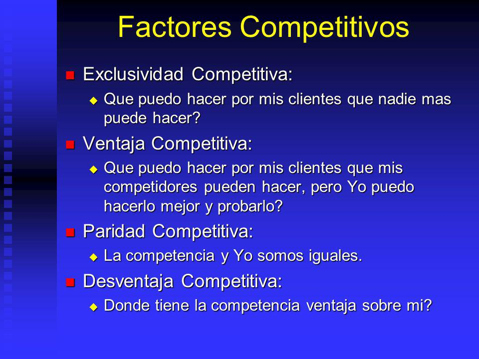 Factores Competitivos