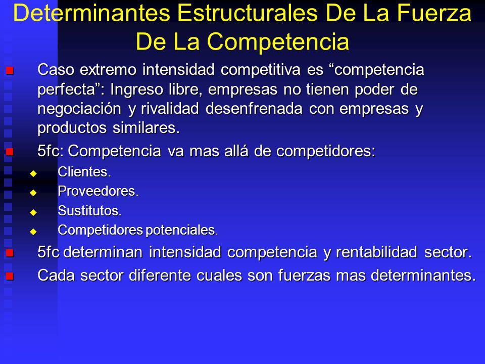 Determinantes Estructurales De La Fuerza De La Competencia