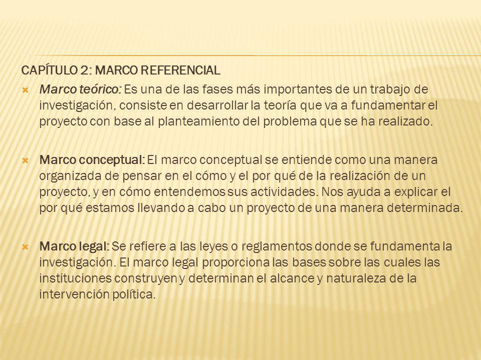 CAPÍTULO 2: MARCO REFERENCIAL