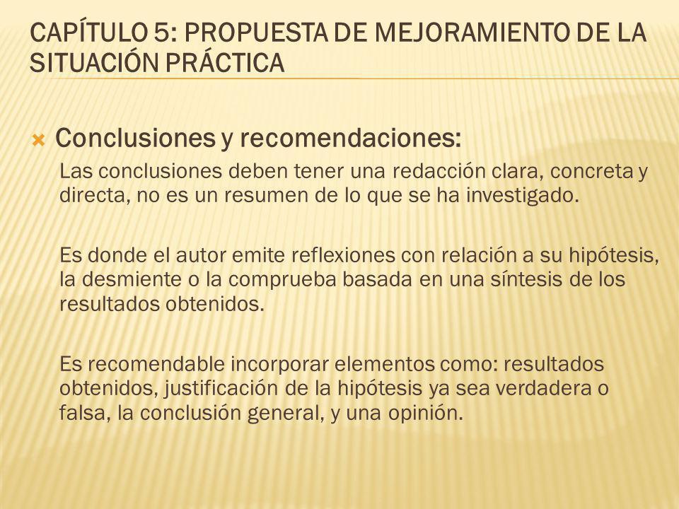 CAPÍTULO 5: PROPUESTA DE MEJORAMIENTO DE LA SITUACIÓN PRÁCTICA