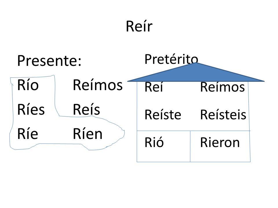 Presente: Río Reímos Ríes Reís Ríe Ríen