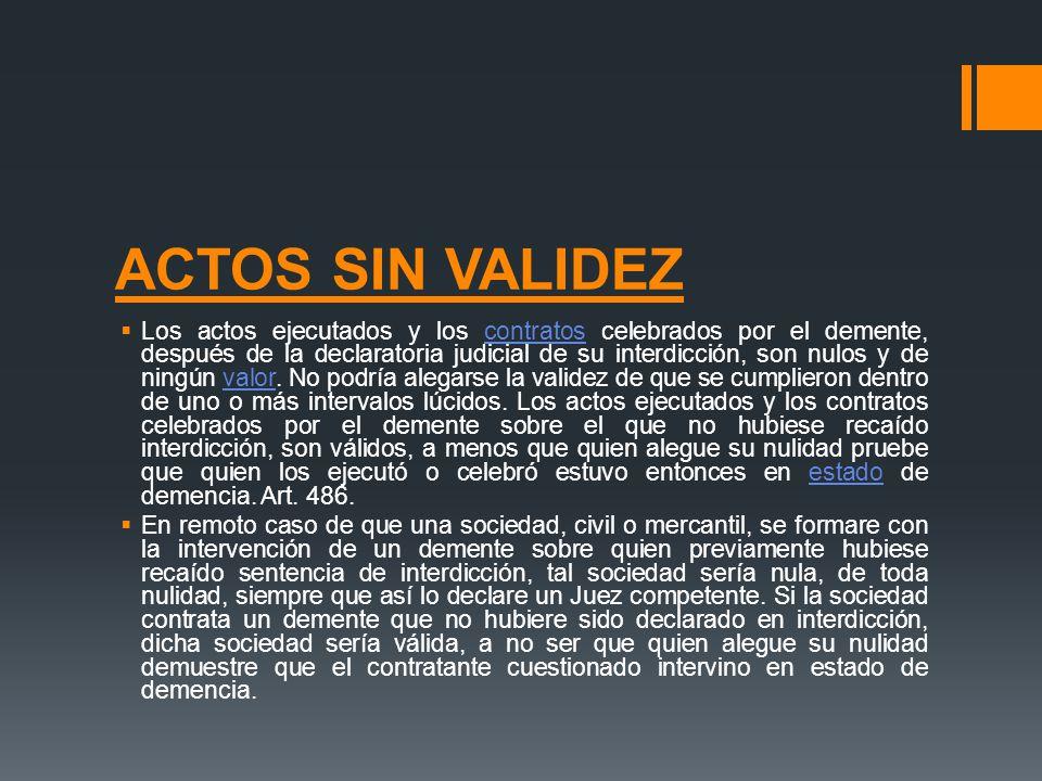 ACTOS SIN VALIDEZ