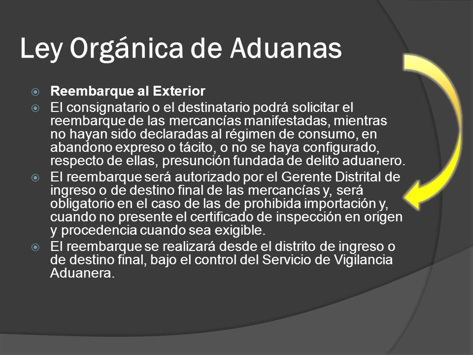 Ley Orgánica de Aduanas