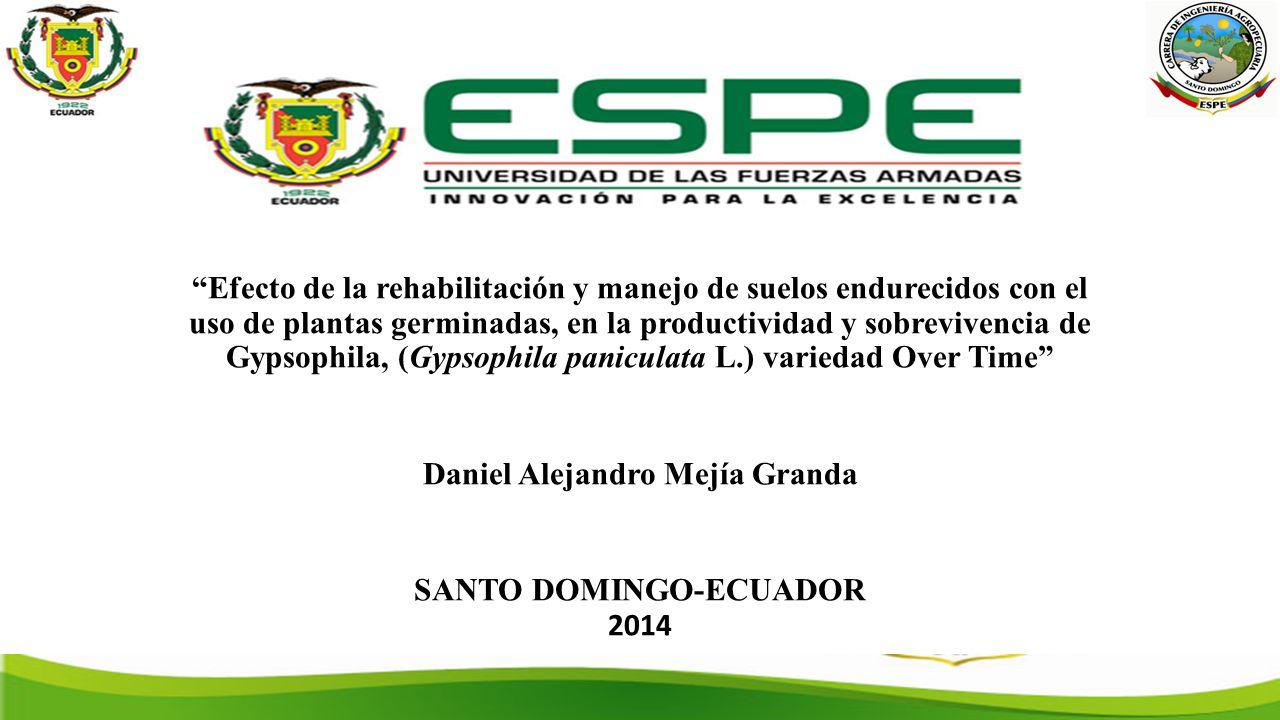 Daniel Alejandro Mejía Granda SANTO DOMINGO-ECUADOR 2014
