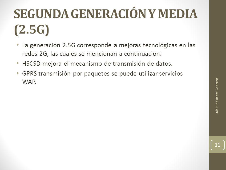 SEGUNDA GENERACIÓN Y MEDIA (2.5G)