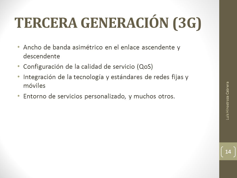 TERCERA GENERACIÓN (3G)
