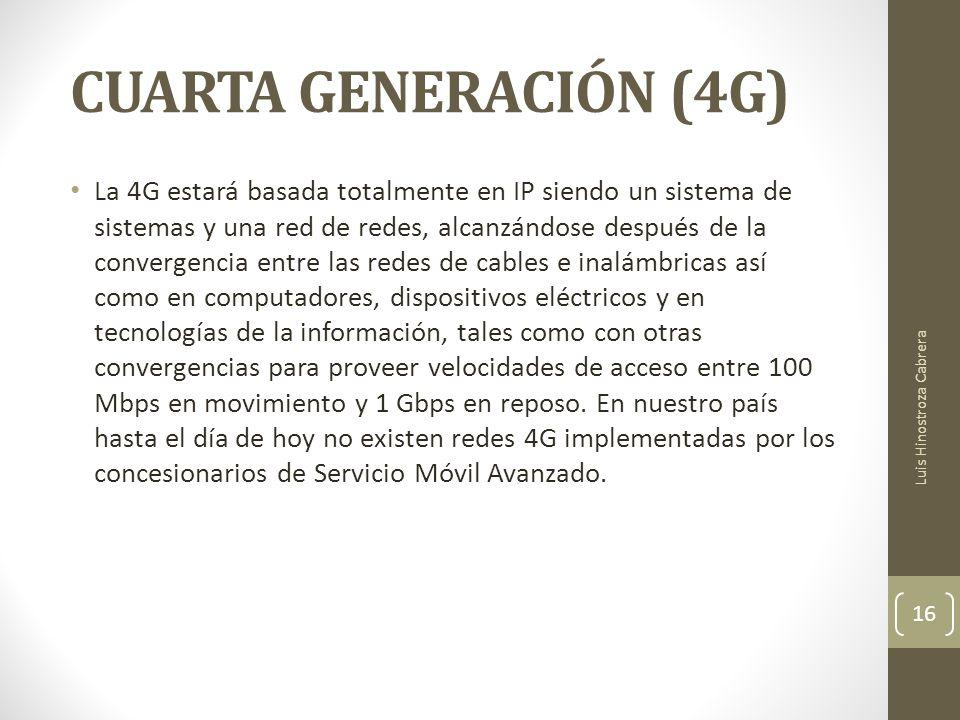 CUARTA GENERACIÓN (4G)