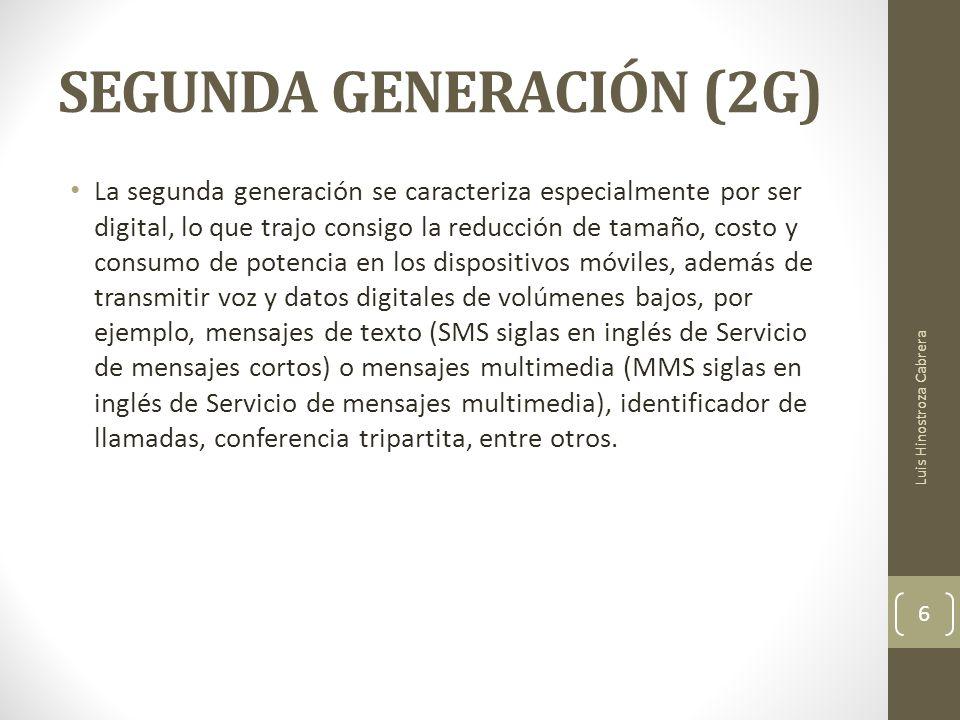 SEGUNDA GENERACIÓN (2G)