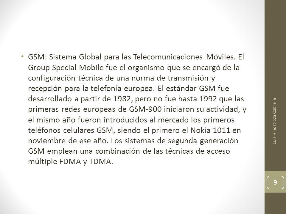GSM: Sistema Global para las Telecomunicaciones Móviles