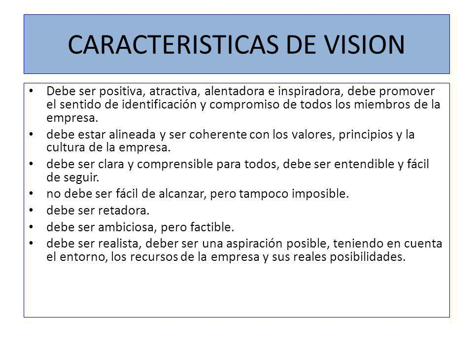 CARACTERISTICAS DE VISION