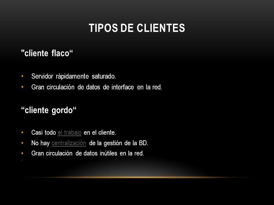 TIPOS DE CLIENTES cliente flaco cliente gordo