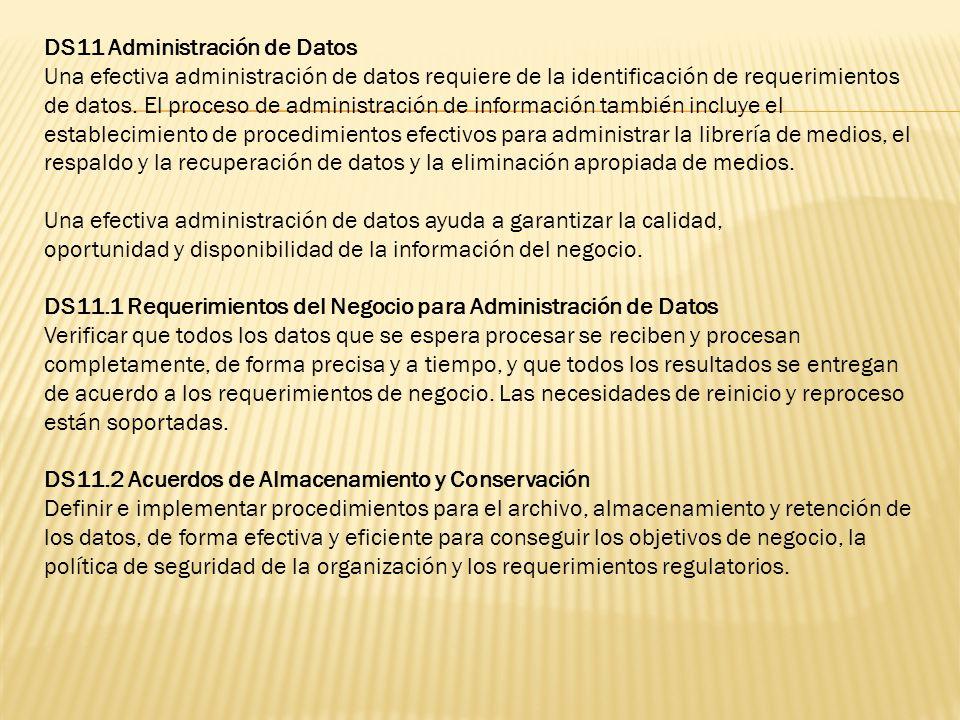 DS11 Administración de Datos