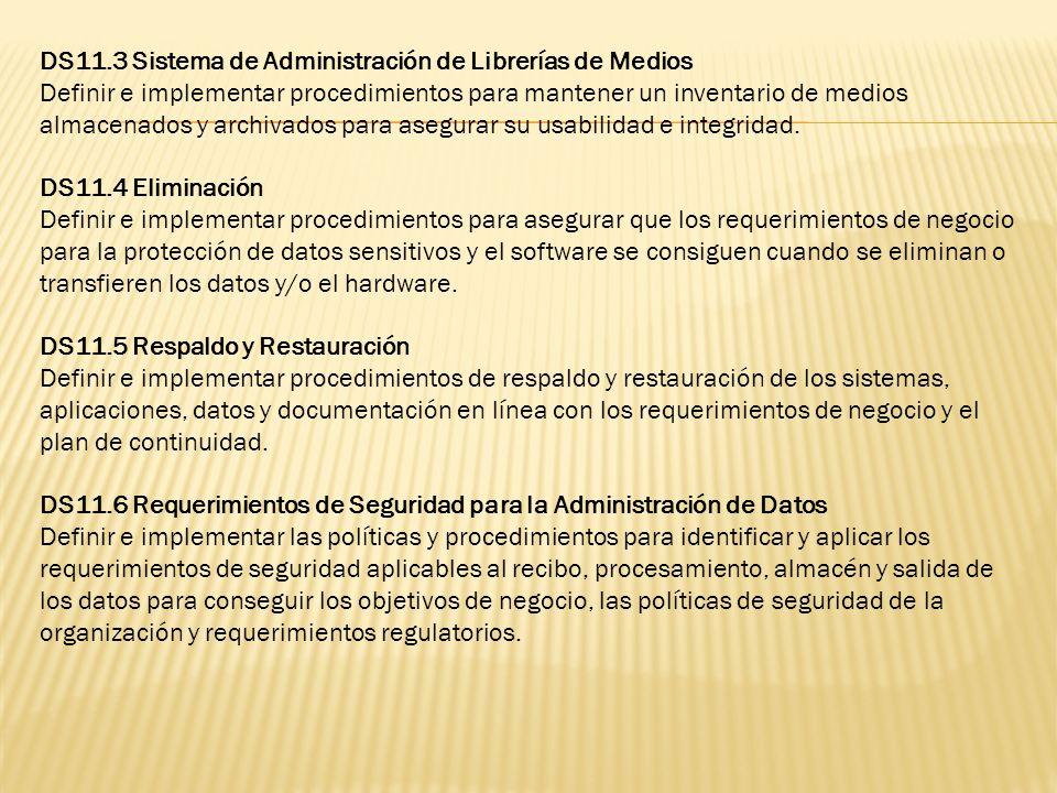 DS11.3 Sistema de Administración de Librerías de Medios