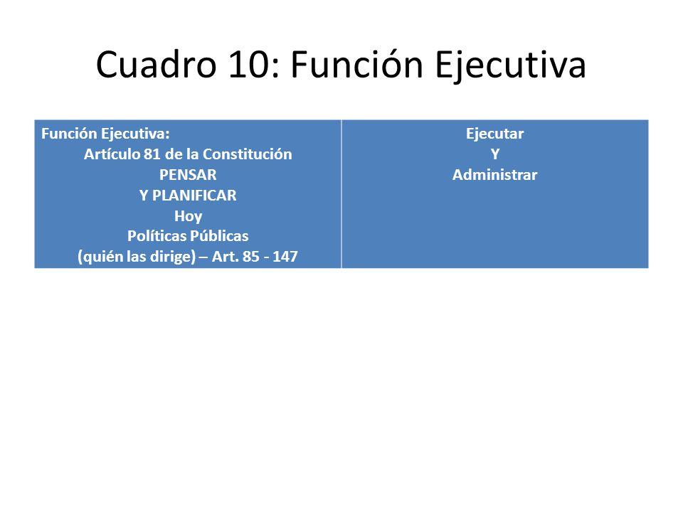 Cuadro 10: Función Ejecutiva